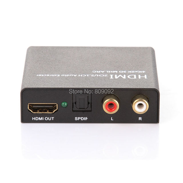HDMI Audio Extractor Support ARC/MHL/3D/4K*2K/1080P Audio Converter HD Converte For Computer Laptop to HDTV Projector