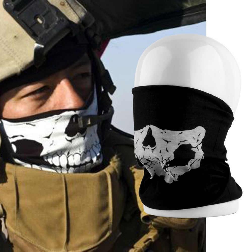 HOT Cool Tubular Skull Ghosts Ghost Mask Bandana Motor bike Sport Scarf Neck Warmer Winter Halloween For Motorcycle free shiping