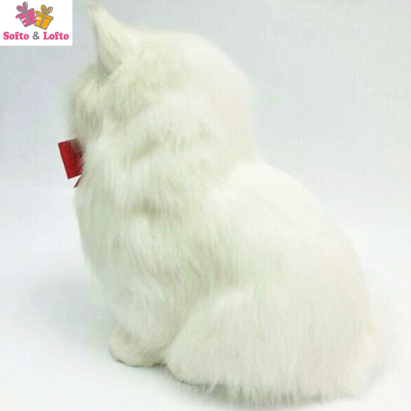 NEW one piece artificial fur made plush cats toy,persian kat kitten pussy  cat,doll decorations birthday gift for child girls-in Stuffed & Plush  Animals from ...