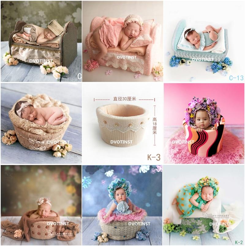 Hartig Dvotinst Pasgeboren Fotografie Props Baby Poseren Mini Prinses Bed Ronde Mand Fotografia Accessoires Studio Scheuten Foto Props Een Effect Produceren Voor Een Heldere Visie