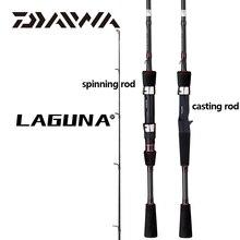 Рыболовная удочка DAIWA LAGUNA для заброса приманки, класс M/MH, 1,68/1,8/1,98/2,1 М, спиннинг из углеродного волокна, направляющие из оксида алюминия