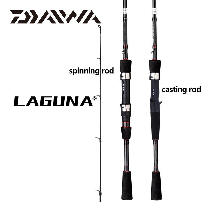 Nouvelle canne à pêche DAIWA LAGUNA Baitcasting leurre M/MH Power 1.68/1.8/1.98/2.1M Guides de pêche en oxyde d'aluminium