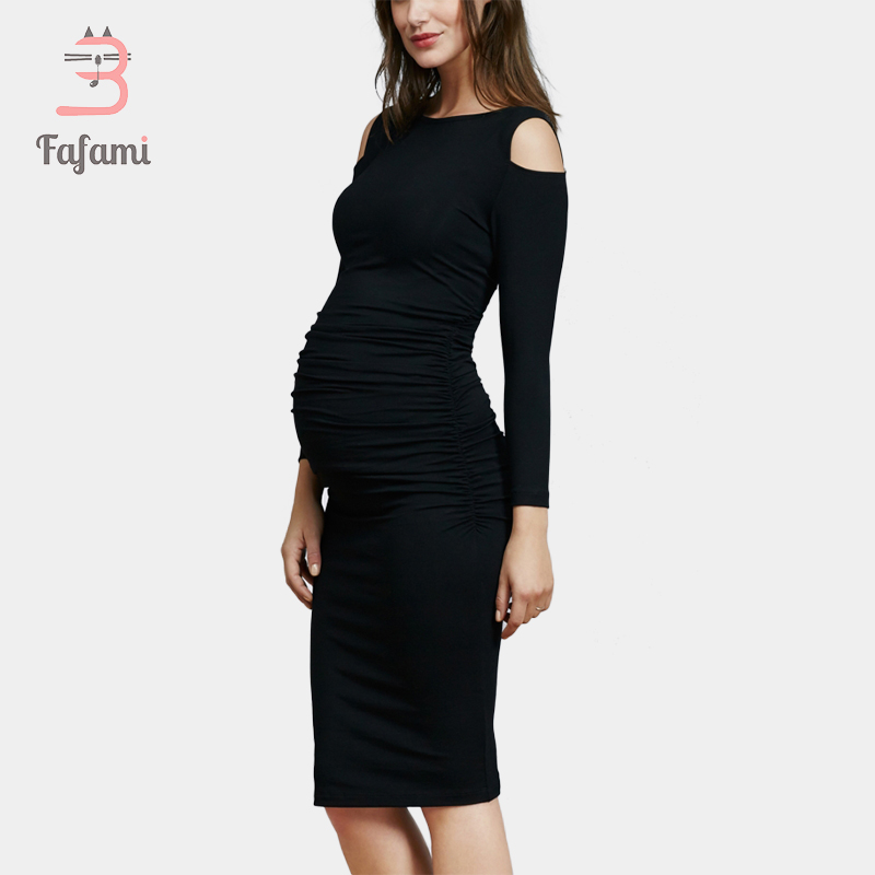 c75b9d2aafb91 Maternity Clothes In Fashion maternity dresses for pregnant women Cold  shoulder Nursing Dress Pregnancy clothing for photo shoot