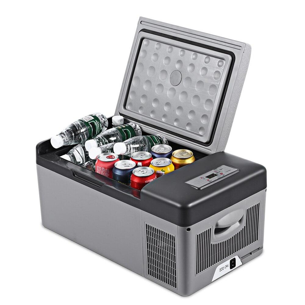 C15 15L Портативный холодильник для автомобиля дома Пикник Кемпинг вечерние ударопрочный с портативные ручки-20 град. C заморозить холодильник