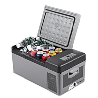 C15 15L Portable Refrigerator for Car Home Picnic Camping Party Shock Resistant With Portable Handles 20 Deg.C Freeze Fridge