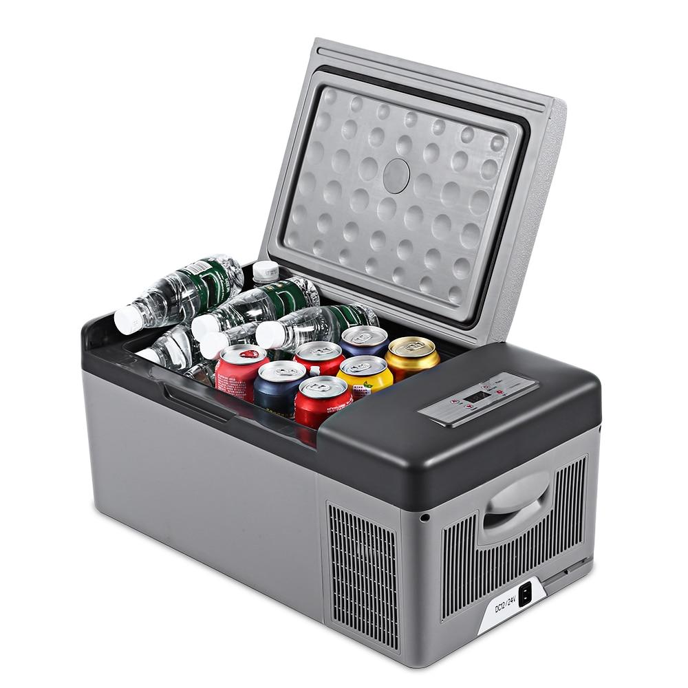 C15 Voiture Réfrigérateur 15L Portable pour Accueil Pique-Nique Camping Partie Résistant Aux Chocs Avec Portable Poignées-20 Deg. C Gel Réfrigérateur