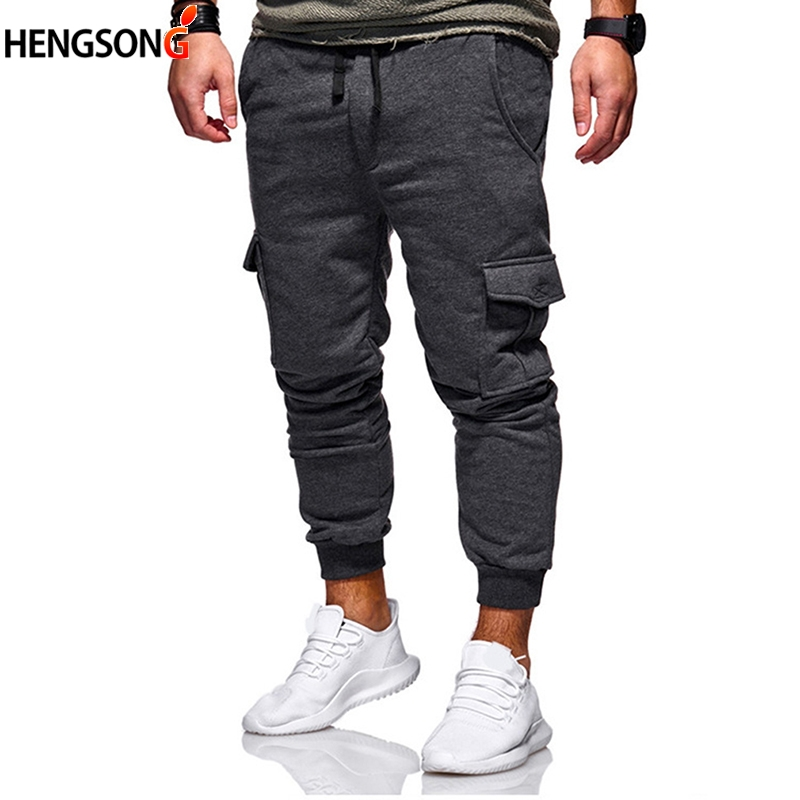 New Sweatpants Men Streetwear Joggers Pants Fashion Side Pocket male trousers Streetwear Men's Casual Pants