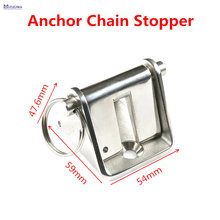 Buy Marine Grade Boat Anchor Chain Stopper Safety Lock Anchor Chain Lock 316 Stainless Steel Hardware Fishing Accessories