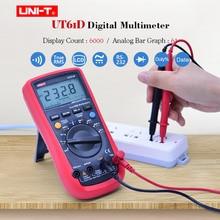 цена на Digital Multimeter UNI-T UT61D AC DC volt Ampere Ohm meter True RMS Auto Range 6000 Count Capacitance Frequency test PC Connect
