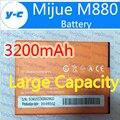 Mijue Bateria M880 100% New Original 3200 mAh Bateria De Backup Para mijue M880 Celular com Android Em Estoque