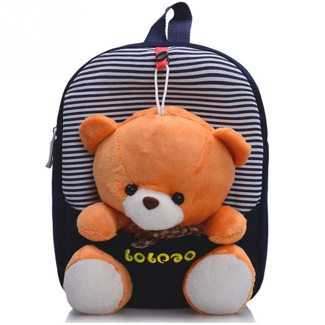 10d658eada7 2018 Children Bag Cute Cartoon Toys Bear MONKEY Children School Bags  Backpack Kindergarten Girls Boys Kid Backpack