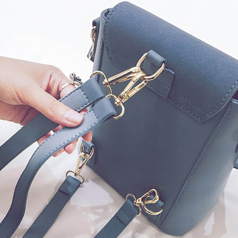 Image 3 - 2019 Europe Fashion Brand Designer Women Backapck Scrub PU Leather Women Bags Mini Shoulder Bag Ladies Backpacks S130-in Backpacks from Luggage & Bags