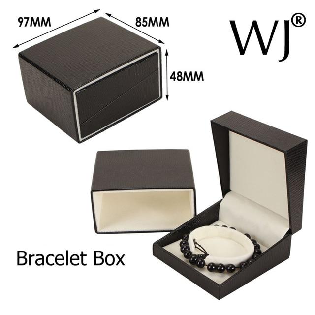 Upscale Black PU Leather Jewelry Box Watch Bangle Bracelet Anklet