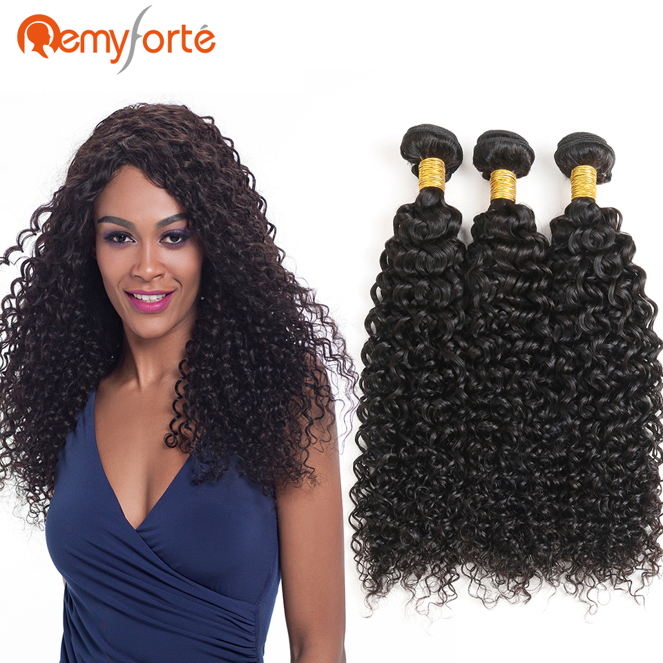 remy forte 10 to 28 inches jerry curl human hair weave 3