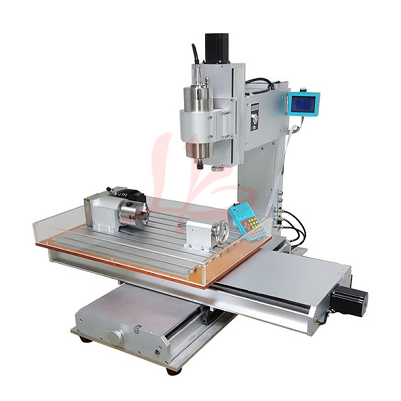 4 Axis Pillar Type CNC Router Engraver CNC 6040 Machine 1.5KW / 2.2KW CNC Metal Milling Machine cnc 5axis a aixs rotary axis three jaw chuck type for cnc router engraver carving machine