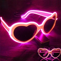 2016 Party Glasses Flashing Led Led Flashing Glow Shutter Light EL Wire Fashion Love Glasses For