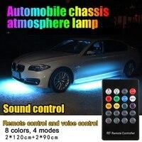 Colorful Strip Under Car 12V Tube Underglow Underbody Glow System Neon Light Kit 120cm 90cm