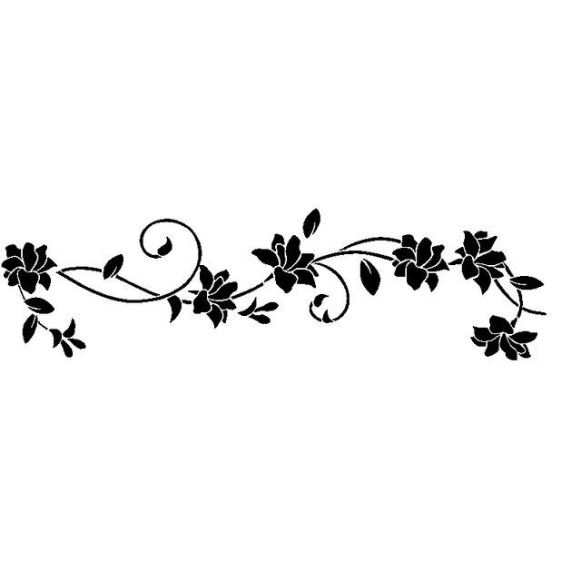 Stiker dinding bunga pohon anggur hitam removable lingkungan 1 pc wall sticker 30105 cm