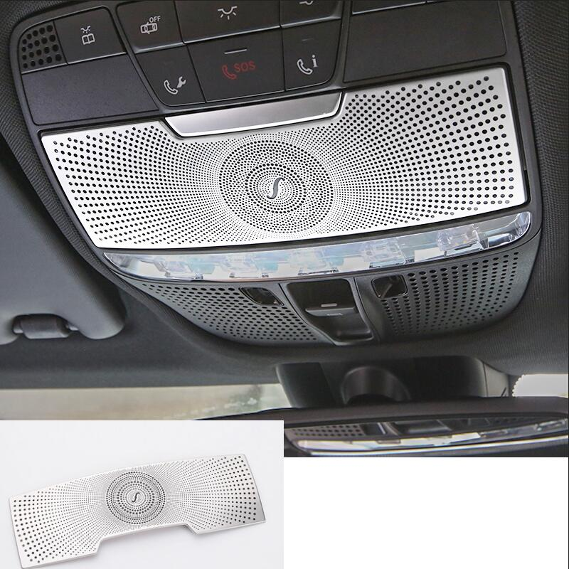 1pc car styling stainless steel stickers car eye box cover for Mercedes Benz GLC 2015-2017 C class W205 accessories bjmycyy stainless steel exhause air filter 2 to 4 cover car accessories for mercedes benz c class sedan w205 c200 c180 2015 2016