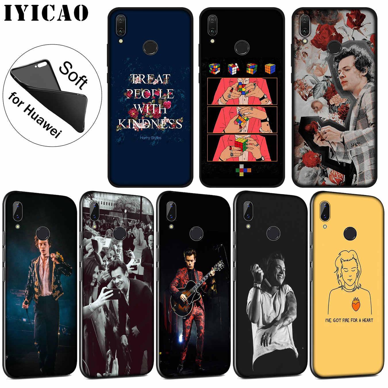 IYICAO 一方向入れ墨ハリースタイルソフトシリコンケース Huawei 社 P30 P20 プロ P10 P9 P8 Lite ミニ 2017 2016 1080p スマート Z 2019