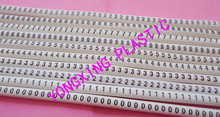 500PCS/lot EC-2 4mm2 cable marker nubmer 0-9 each 50pcs mark