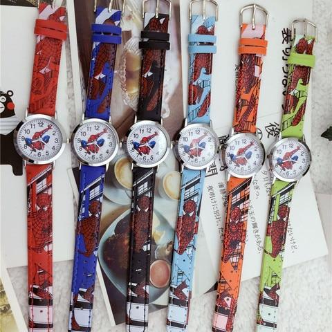 Fashion Kid Quartz Wristwatches Spider web Spiderman Children Watches Waterproof Cool Kids Watch Student Boys Girls Child Clock Karachi