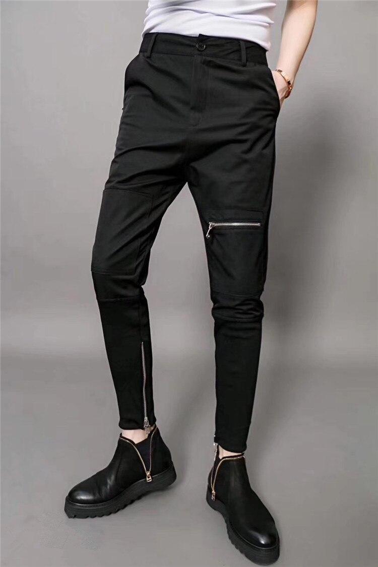 Harem Pants Stylist Korean-Version Men's Fashion Casual Beam New Hair Thin Slim Wild