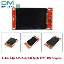 1.44/1.8/2.2/2.4/2.8 inç TFT renkli ekran LCD ekran modülü 128*128 240*320 mikro SD ST7735S ILI9341 ILI9225 dokunmatik