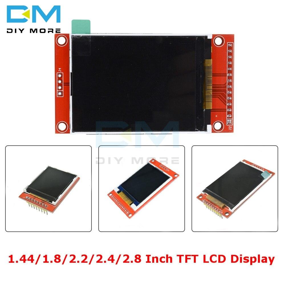 1,44/1,8/2,2/2,4/2,8 pulgadas TFT Color pantalla LCD módulo 128*128 240*320 Micro SD ST7735S ILI9341 ILI9225 con táctil