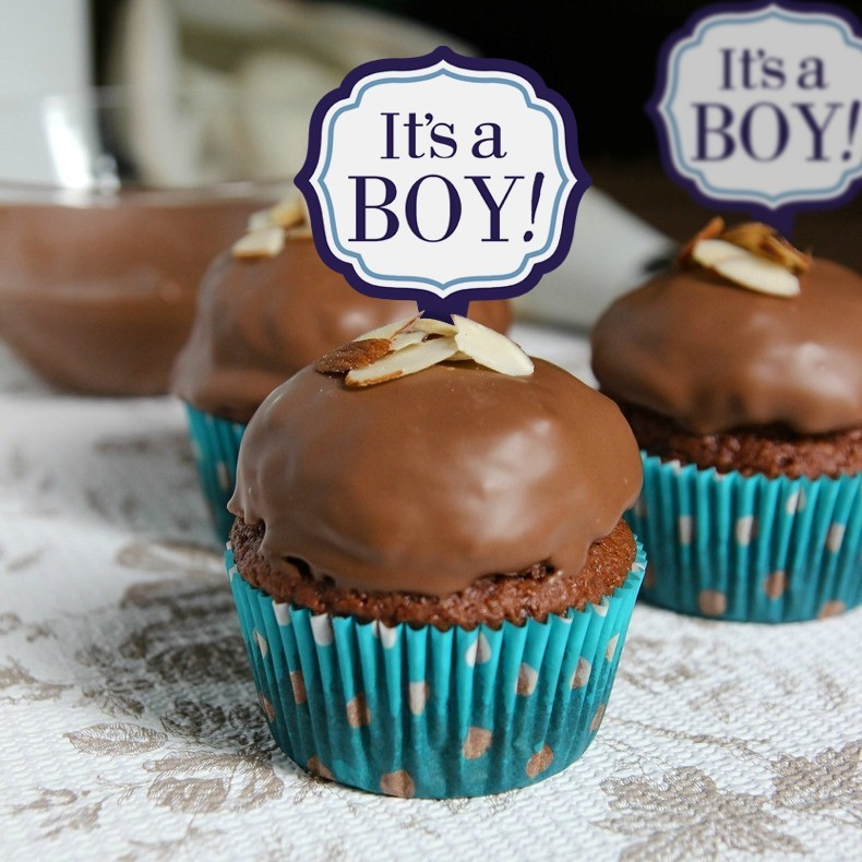 Boy Baby Party Decoration It Is A Boy Banner For Cupcake Display