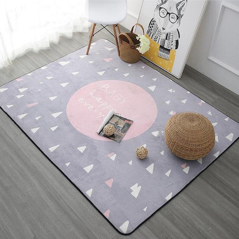 Tapis de Style nordique pour salon maison chambre tapis et tapis Table basse brève zone tapis enfants tapis de jeu Rectangle bébé tapis