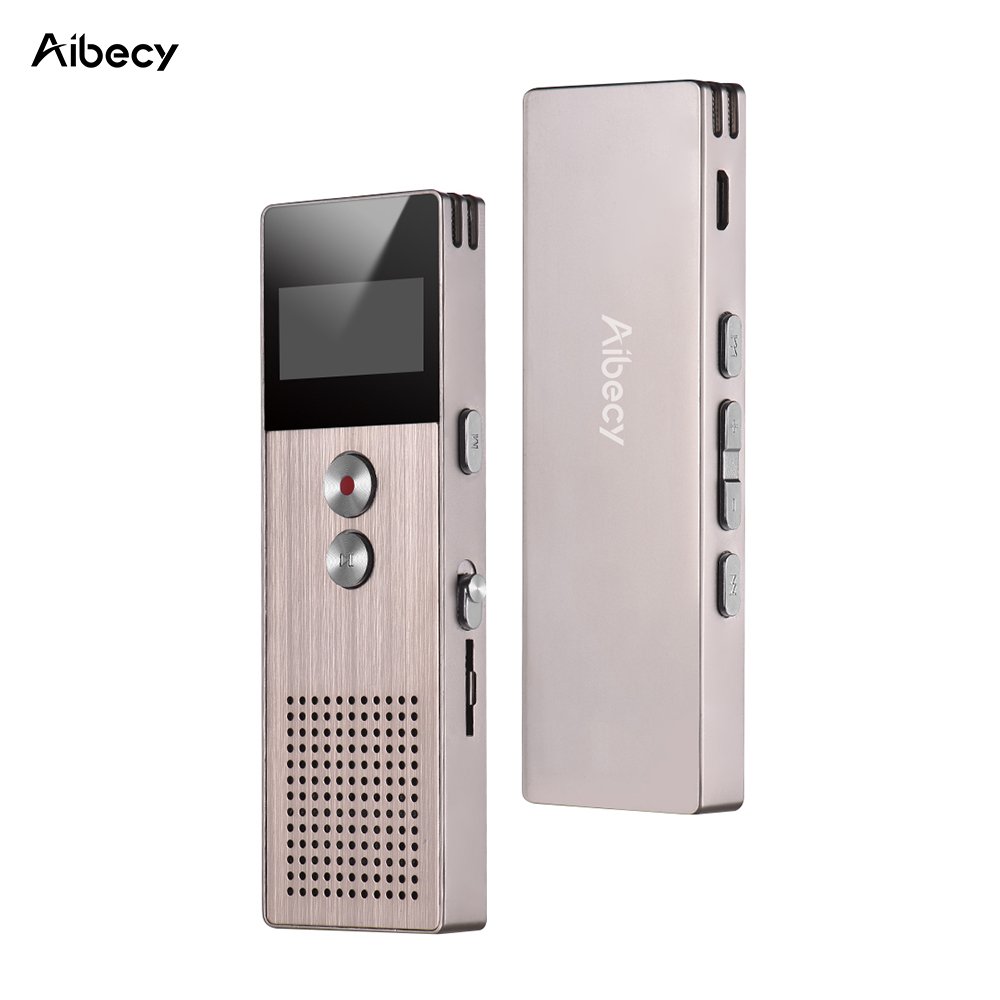 Aibecy M23 16GB Professional Digital Voice Recorder MP3 Muisc Player Audio Activated Recording with Loudspeaker Card Slot