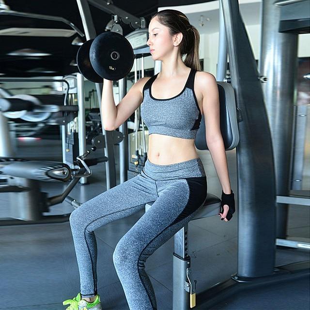 Vente chaude Femmes Gym Exercice Sport Long Pantalon Tenue Élastique  Leggings Musculation remise en forme De c76a821a69a