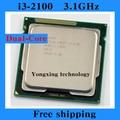 Core i3 2100 3.1GHz 3M SR05C Dual Core Four threads desktop processors Computer CPU Socket LGA 1155 pin