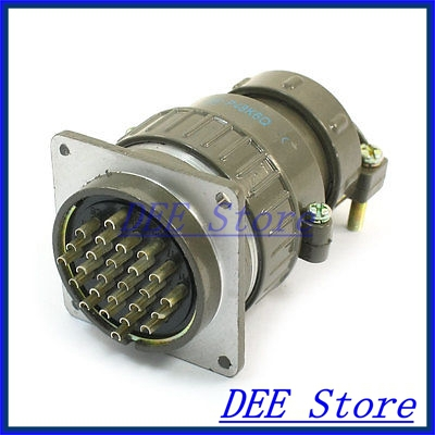 Flange Mounting P48-26 Core 48mm 26 Pin CNC Metal Aviation Connector army green metal y2m 50tk 50 pin aviation connector new