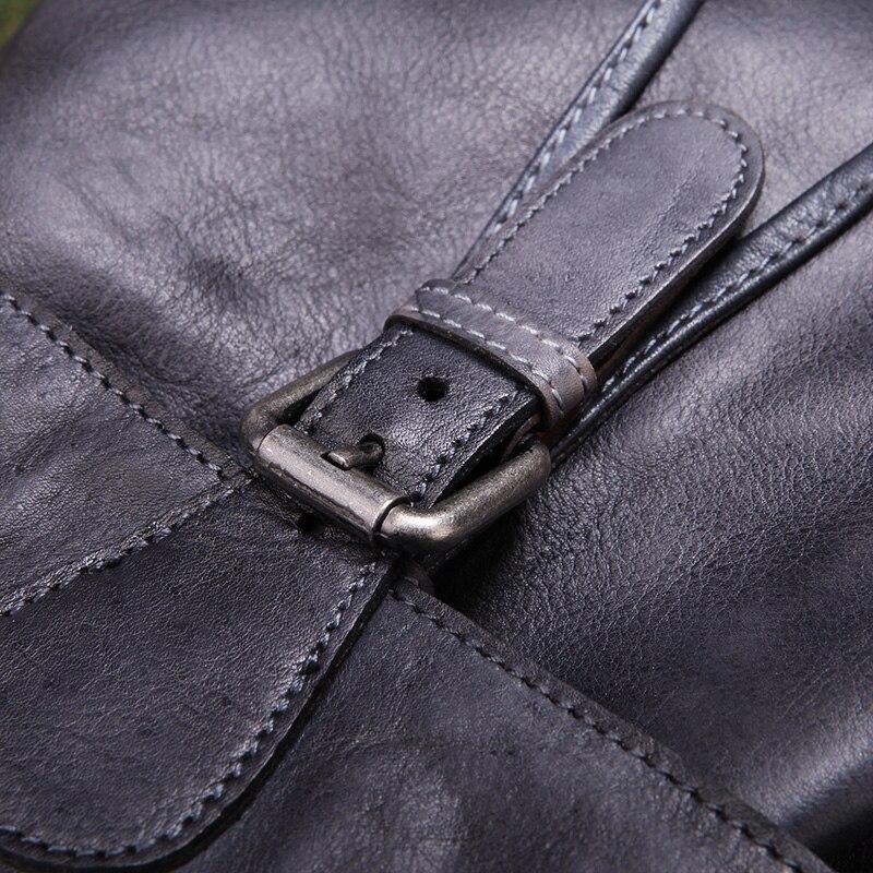 Женский рюкзак осень 2019, оригинальный рюкзак из натуральной кожи, винтажный рюкзак для отдыха с ручкой сверху, сумки на плечо, Коровья кожан... - 6