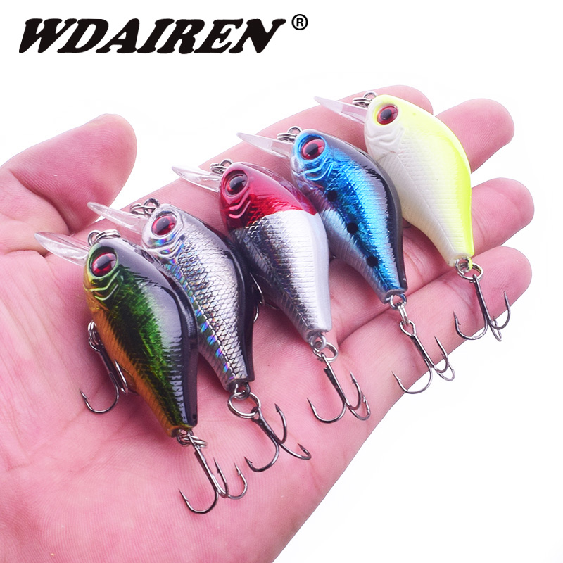1Pcs Crank Fishing Lures 5.5cm 7.8g Minnow Crankbait Bass Topwater Artificial Hard lure baits wobblers Pesca Fishing Tackle