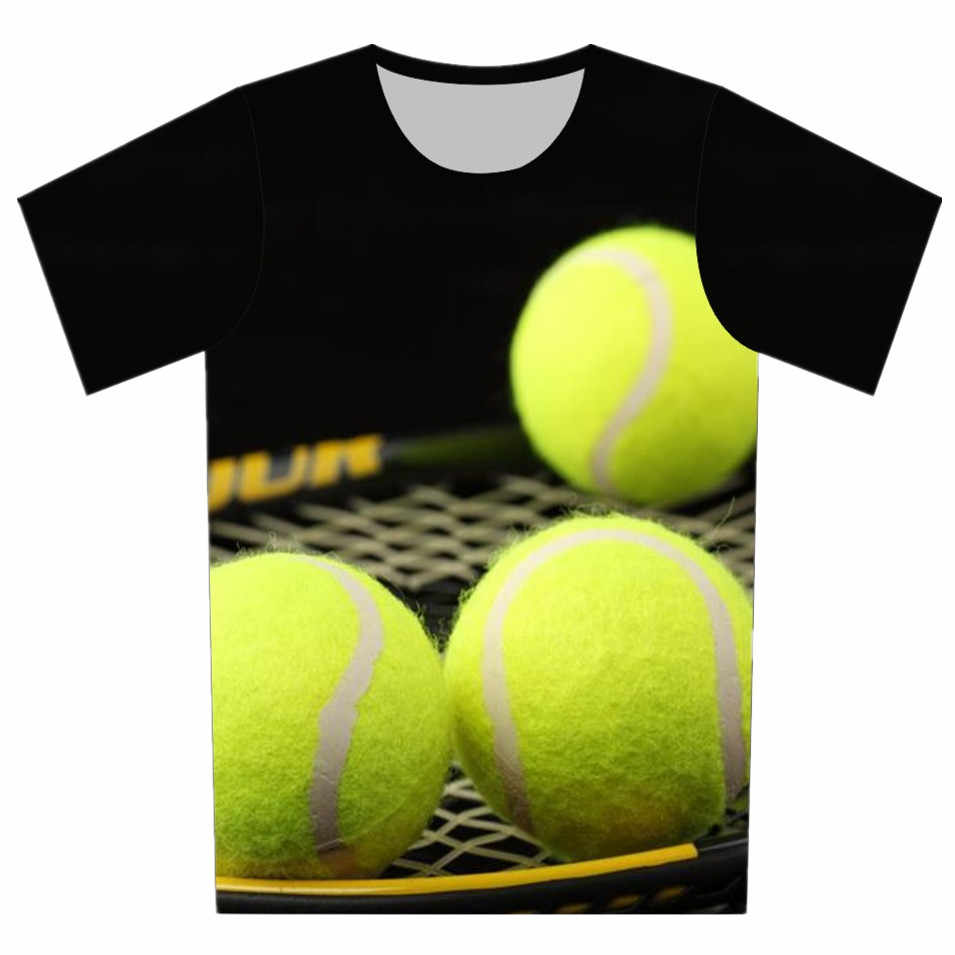 769a3405 ... New 2018 Children 3D T Shirt Cartoon Cup Football Tennis bowling ball  Print Cool T- ...