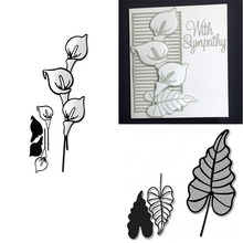 Eastshape Flower Branch Lily Metal Cutting Dies 2019 Leaf for Craft Scrapbooking Album Embossing New Cuts