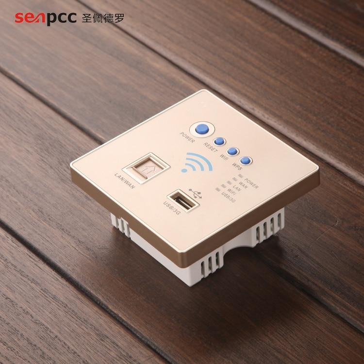 Nouveau Style mode 86 Smart Home routeur AP prise murale panneau Wifi USB Jack réseau sans fil