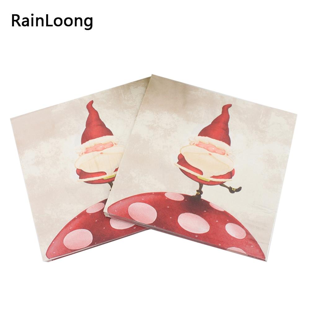 [Rainloong] navidad santa decoración festivo y fiesta servilletas servilletas de