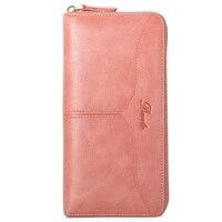 Long Genuine Leather Wallets Card Holder Preppy Solid Famous Brand Girls Clutch Overwatch Wallets Women Zipper