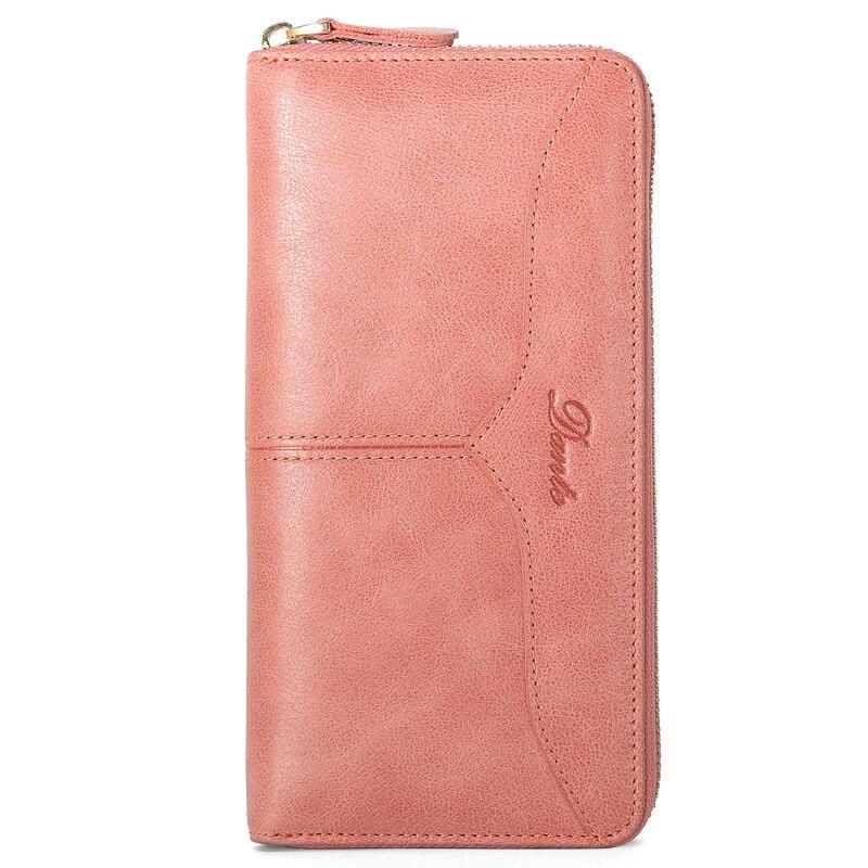 Long Genuine Leather Wallets Card Holder Preppy Solid Famous Brand Girls Clutch Overwatch Wallets Women Zipper Purse Designer