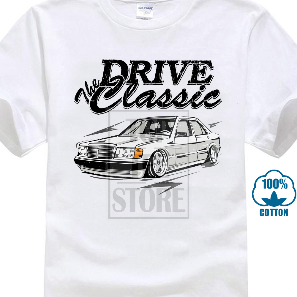 For Man New T Shirt S 6xl Big Size W201 Mercedes T Shirt Top Design New Arrival Fashionable T Shirt New Summer O Neck Couple