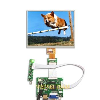 HJ080IA-01E HE080IA-01D screen 8 inch LCD display For Raspberry pi 3 B+ 1024*768 tablet HDMI VGA AV Control Driver Board Audio