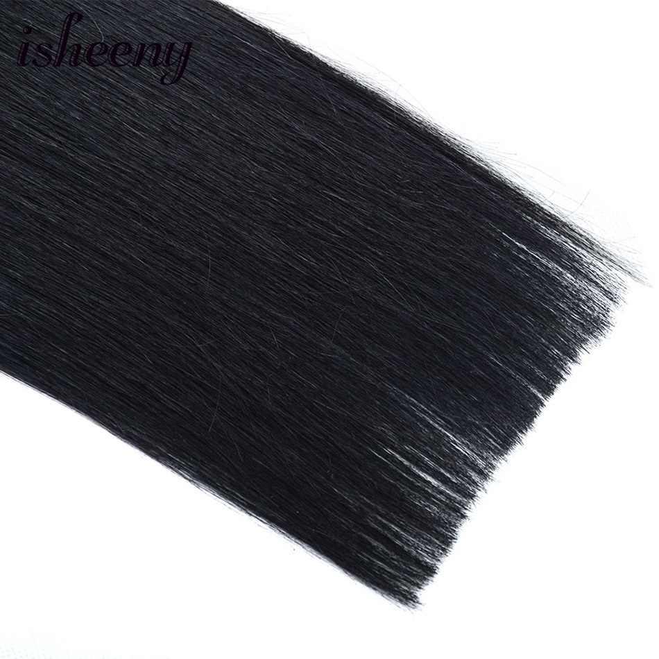 Black Human Hair Ponytail Straight European Remy Ponytail Wrap Around Horsetail wig 60g Pony Tails