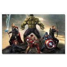 Плакат Мстителей Marvel Movie Poster супергерой Настенная картина шелковая настенная Художественная печать Тор Халк Железный человек