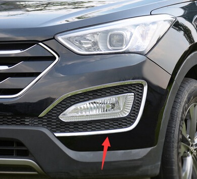 Accessories FIT FOR 2013 2014 2015 2016 FOR HYUNDAI SANTA FE SPORT IX45  FRONT FOG LIGHT