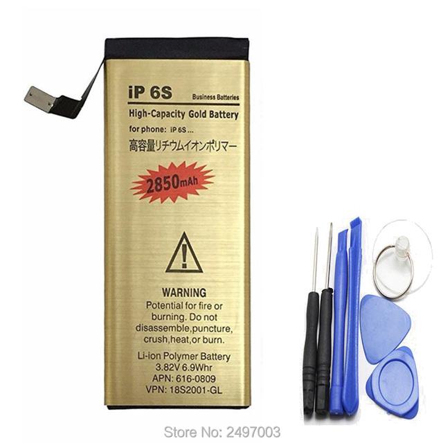 Para iphone 6 s batteria bateria de substituição 3.82 v 2850 mah marca bateria de iões de lítio interna para apple iphone 6 s 6 s bateria