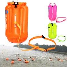 20л Водонепроницаемая воздушная сумка буй для плавания плавание ming буксировочный поплавок сухой мешок с поясным ремнем Каякинг хранение плавание ming спасательный Дрифт мешок